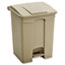 Safco® Large Capacity Plastic Step-On Receptacle, 17gal, Tan Thumbnail 1
