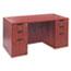 "Alera® Alera Valencia Series Straight Front Desk Shell, 59.13"" x 29.5"" x 29.63"", Medium Cherry Thumbnail 4"