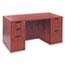 "Alera® Alera Valencia Series Straight Front Desk Shell, 59.13"" x 29.5"" x 29.63"", Medium Cherry Thumbnail 6"