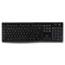 Logitech® K270 Wireless Keyboard, USB Unifying Receiver, Black Thumbnail 1