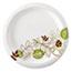 "Dixie® Pathways Soak-Proof Shield Medium Weight Paper Plates, 6-7/8"", Green/Burgundy, 500/CT Thumbnail 1"