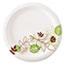 "Dixie® Pathways Soak-Proof Shield Medium Weight Paper Plates, 6-7/8"", Green/Burgundy, 1000/CT Thumbnail 1"
