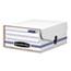 Bankers Box® LIBERTY Binder-Pak Storage Box, Letter, Snap Fastener, White/Blue Thumbnail 1