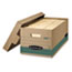 Bankers Box® STOR/FILE Extra Strength Storage Box, Letter, Lift-Off Lid, Kft/Green, 12/Carton Thumbnail 1