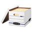Bankers Box® EASYLIFT Storage Box, Letter/Letter, Lift-Off Lid, White/Blue, 12/Carton Thumbnail 1