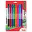 Pentel® R.S.V.P. RT Retractable Ballpoint Pen, 1mm, Clear Barrel, Assorted Ink, 8/Pack Thumbnail 1