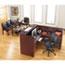 """Alera® Alera Valencia Series Reception Desk with Transaction Counter, 71"""" x 35.5"""" x 29.5"""" to 42.5"""", Mahogany Thumbnail 7"""