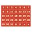"MasterVision® Calendar Magnetic Tape, Calendar Dates, Red/White, 1"" x 1"" Thumbnail 1"
