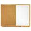 Quartet® Bulletin/Dry-Erase Board, Melamine/Cork, 36 x 24, White/Brown, Oak Finish Frame Thumbnail 1