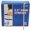 "Royal Paper Wood Coffee Stirrers, 5 1/2"" Long, Woodgrain, 1000 Stirrers/Box Thumbnail 2"