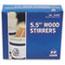 "Royal Paper Wood Coffee Stirrers, 5 1/2"" Long, Woodgrain, 1000 Stirrers/Box Thumbnail 8"