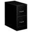 OIF Two-Drawer Economy Vertical File, 15w x 26-1/2d x 29h, Black Thumbnail 1