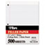 TOPS™ Filler Paper, 3H, 16 lb, 8 1/2 x 11, College Rule, White, 500 Sheets/Pack Thumbnail 1