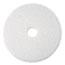 """3M™ Super Polish Floor Pad 4100, 20"""", White, 5/Carton Thumbnail 1"""