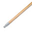 "Boardwalk® Metal Tip Threaded Hardwood Broom Handle, 15/16"" Dia x 60"" Long Thumbnail 1"