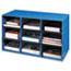 Bankers Box® Classroom Literature Sorter, 9 Compartments, 28 1/4 x 13 x 16, Blue Thumbnail 1