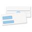 "Quality Park™ #9 Double Window Security Tint Envelopes, Redi-Seal® Self Seal, 3 7/8"" x 8 7/8"", 24 lb White Paper, Side Seams, 500/BX Thumbnail 1"