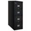 FireKing® Patriot Insulated Four-Drawer Fire File, 17-3/4w x 31-5/8d x 52-3/4h, Black Thumbnail 1