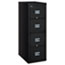 FireKing® Patriot Insulated Four-Drawer Fire File, 17-3/4w x 25d x 52-3/4h, Black Thumbnail 1