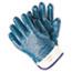 Memphis™ Predator Premium Nitrile-Coated Gloves, Blue/White, Large, 12 PR/PK Thumbnail 1