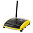 """Rubbermaid® Commercial Brushless Mechanical Sweeper, 44"""" Handle, Black/Yellow Thumbnail 1"""