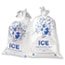 Inteplast Group Ice Bag, 11 x 20, 8lb Capacity, 1.5mil, Clear/Blue, 1000/Carton Thumbnail 2