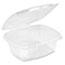Genpak® Clear Hinged Deli Container, Plastic, 12 oz, 5-3/8 x 4-1/2 x 2-1/2, 100/Bag Thumbnail 2