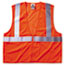 ergodyne® GloWear 8210Z Class 2 Economy Vest, Polyester Mesh, Zipper Closure, Orange, L/XL Thumbnail 1