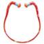 Howard Leight® by Honeywell QB3HYG Banded Multi-Use Earplugs, 23NRR, Red Band/Orange Plug, 10/BX Thumbnail 1
