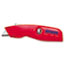 IRWIN® Self-Retracting Safety Knife, 1 Retractable Blade, Red/Silver Thumbnail 1