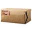 General 12# Paper Bag, 40lb, White, 7 1/16 x 4 1/2 x 13 3/4, 500/Pack Thumbnail 2