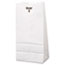 General #4 Paper Grocery Bag, 30lb White, Standard 5 x 3 1/3 x 9 3/4, 500 bags Thumbnail 1