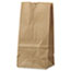 General #2 Paper Grocery Bag, 30lb Kraft, Standard 4 5/16 x 2 7/16 x 7 7/8, 500 bags Thumbnail 1