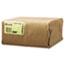 General #6 Paper Grocery Bag, 35lb Kraft, Standard 6 x 3 5/8 x 11 1/16, 500 bags Thumbnail 2