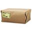 General #10 Paper Grocery Bag, 35lb Kraft, Standard 6 5/16 x 4 3/16 x 13 3/8, 500 bags Thumbnail 2