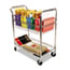 Alera® Carry-all Cart/Mail Cart, Two-Shelf, 34.88w x 18d x 39.5h, Silver Thumbnail 1