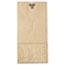 General #10 Paper Grocery Bag, 35lb Kraft, Standard 6 5/16 x 4 3/16 x 13 3/8, 500 bags Thumbnail 3