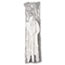 GEN Wrapped Cutlery Kit, Fork/Knife/Spoon/Napkin, Mediumweight, Polypropylene Plastic, White, 250/Carton Thumbnail 2