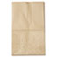 General #20 Squat Paper Grocery Bag, 40lb Kraft, Std 8 1/4 x 5 15/16 x 13 3/8, 500 bags Thumbnail 2