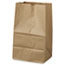 General #20 Squat Paper Grocery Bag, 40lb Kraft, Std 8 1/4 x 5 15/16 x 13 3/8, 500 bags Thumbnail 1
