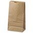 General #6 Paper Grocery Bag, 35lb Kraft, Standard 6 x 3 5/8 x 11 1/16, 500 bags Thumbnail 1