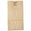 General #6 Paper Grocery Bag, 50lb Kraft, Extra-Heavy-Duty 6 x 3 5/8 x 11 1/16, 500 bags Thumbnail 2