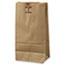 General #6 Paper Grocery Bag, 50lb Kraft, Extra-Heavy-Duty 6 x 3 5/8 x 11 1/16, 500 bags Thumbnail 1