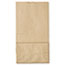 General #6 Paper Grocery Bag, 35lb Kraft, Standard 6 x 3 5/8 x 11 1/16, 500 bags Thumbnail 3