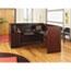 """Alera® Alera Valencia Series Reception Desk with Transaction Counter, 71"""" x 35.5"""" x 29.5"""" to 42.5"""", Mahogany Thumbnail 9"""