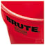 Rubbermaid® Commercial Round Brute Container, Plastic, 32 gal, Red Thumbnail 2