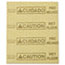 """Rubbermaid® Commercial Over-the-Spill Pad, """"Caution Wet Floor"""", Yellow, 16 1/2"""" x 20"""", 25 Pads/Pack Thumbnail 1"""