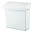 Rubbermaid® Commercial Sanitary Napkin Receptacle with Rigid Liner, Rectangular, Plastic, White Thumbnail 1