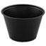 SOLO® Cup Company Polystyrene Portion Cups, 4oz, Black, 250/Bag, 10 Bags/Carton Thumbnail 1