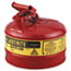 JUSTRITE® Safety Can, Type I, 2.5gal, Red Thumbnail 1